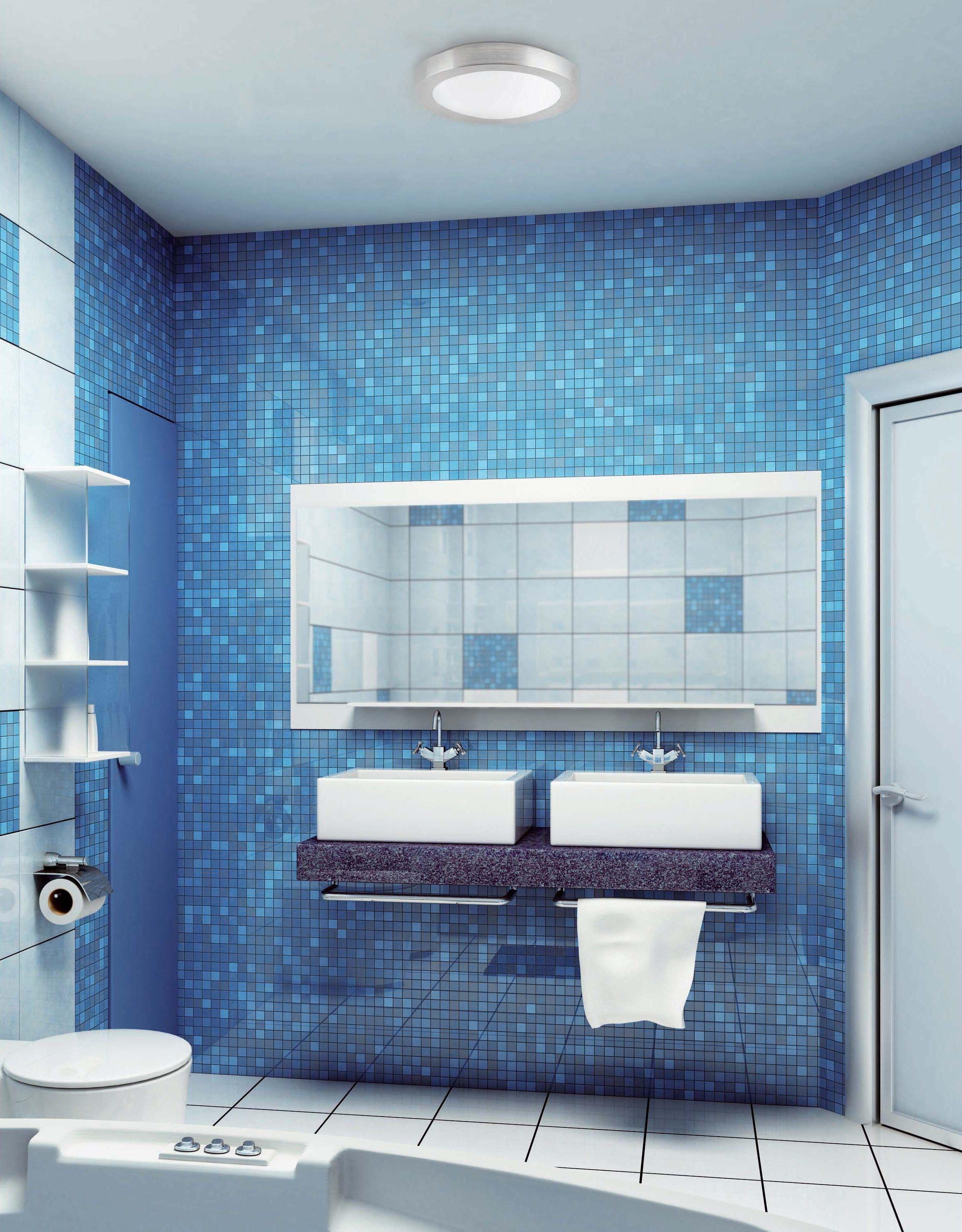 Salle De Bain Deco Bleu ~ une l gante salle de bain bleue o la lumi re provient d un