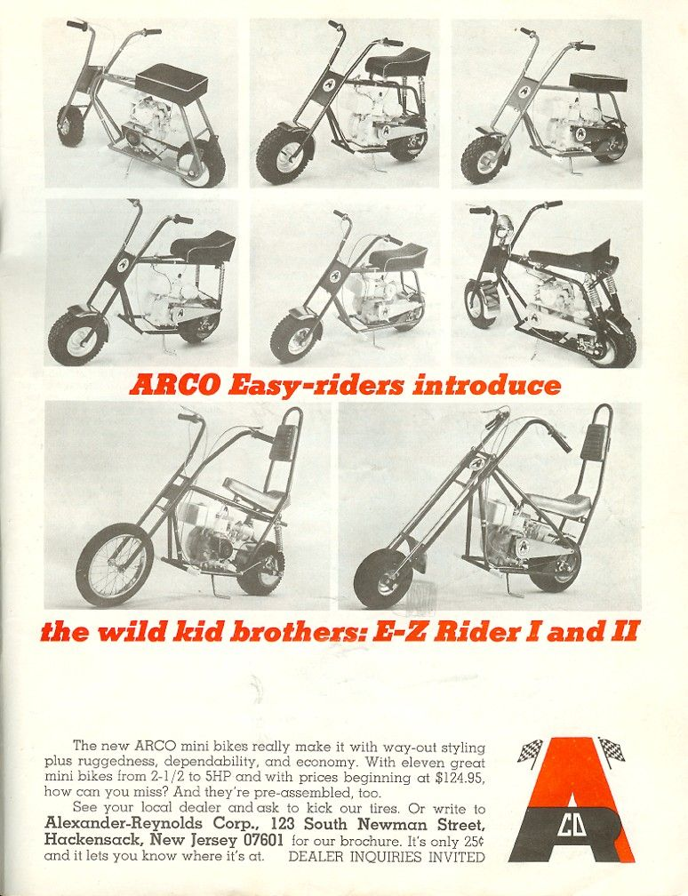 ARCO EASY RIDERS | old mini bike & go cart ads | Pinterest | Mini ...