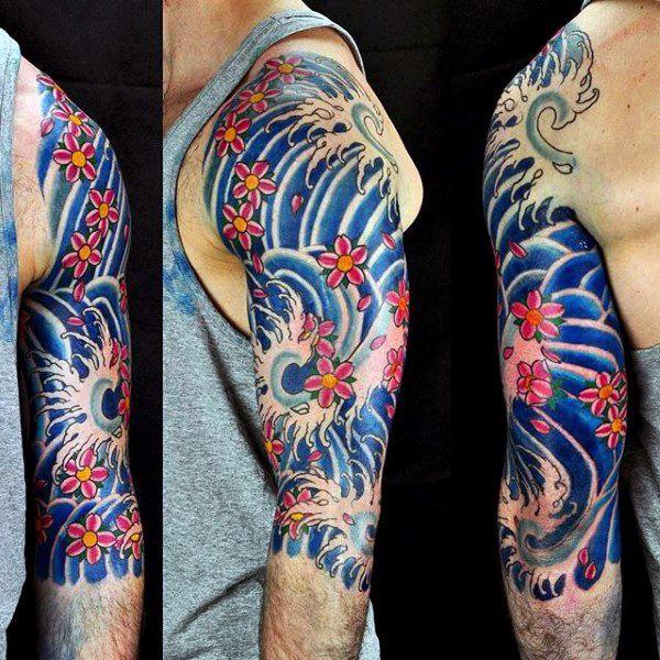 80 Water Tattoos For Men Masculine Liquid Designs Japanese Tattoo Sleeve Tattoos Tattoos For Guys