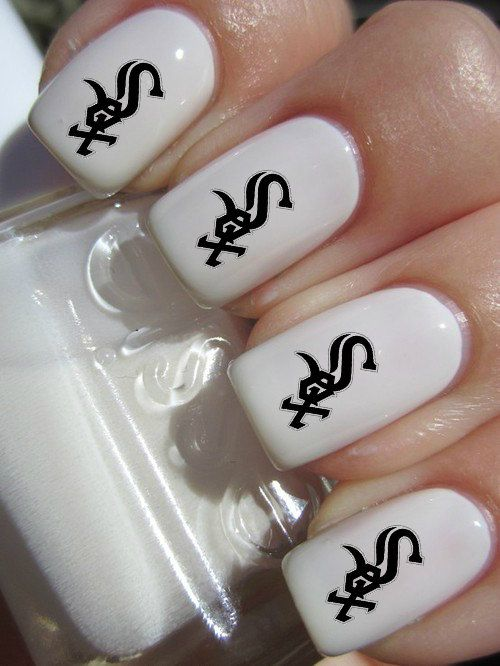 Chicago White Sox Mlb Baseball Nail Decals Tattoos Nail Art By Crazyfunnailart On Etsy Giraffe