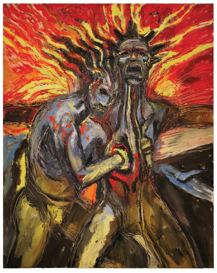 HEARTBREAK - One of a selection of Clive Barker paintings on display in the Century Guild booth at San Diego Comic Con