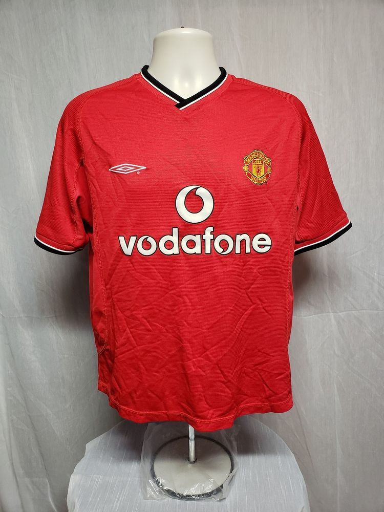 281692864 Umbro Manchester United Vodafone Adult Red Football Soccer XS Jersey  Umbro   ManchesterUnited