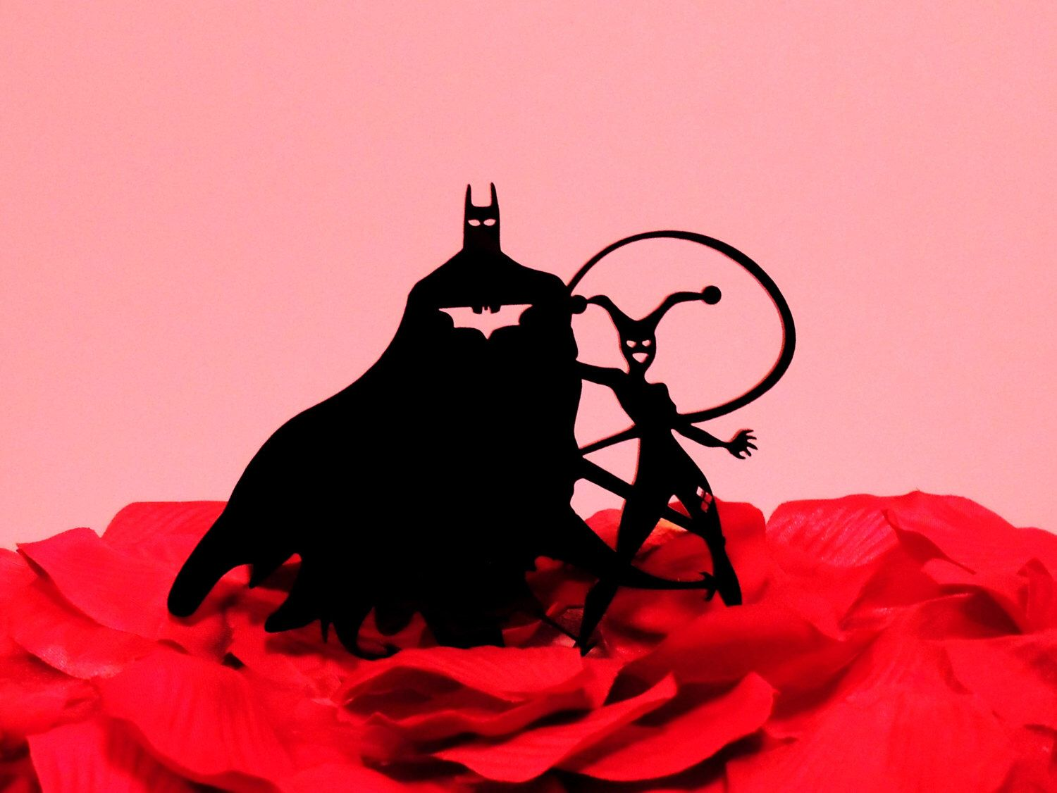 Batman and Harley Quinn Wedding Cake Topper by YourPersonalEngraver ...