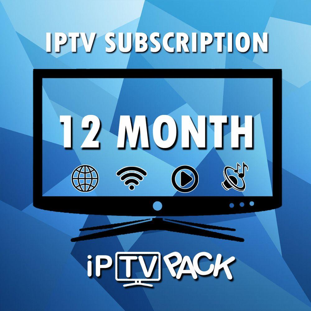 IPTV SUBSCRIPTION 1 YEAR +13000 WORLD CHANNELS USA CANADA