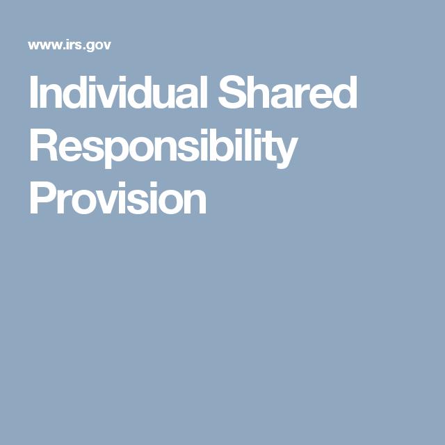 Individual Shared Responsibility Provision