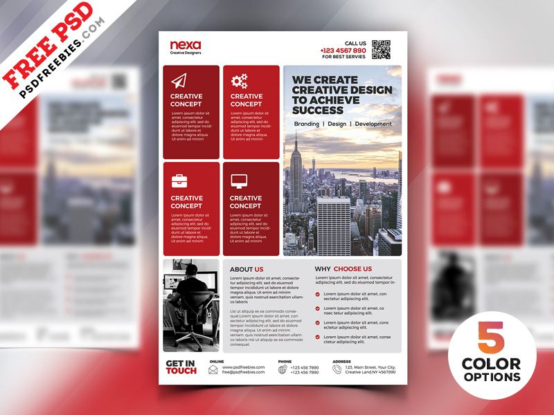 Corporate Modern Flyer Template Free Psd Set By Psd Freebies Flyer