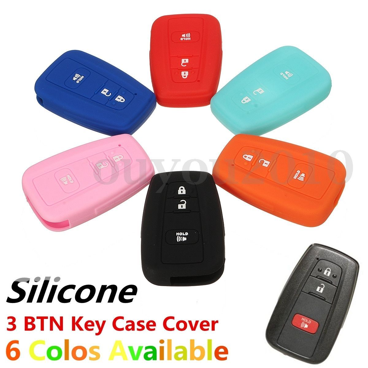 Nice Awesome Silicone Remote Key Cover For Toyota Tacoma 2016 2017