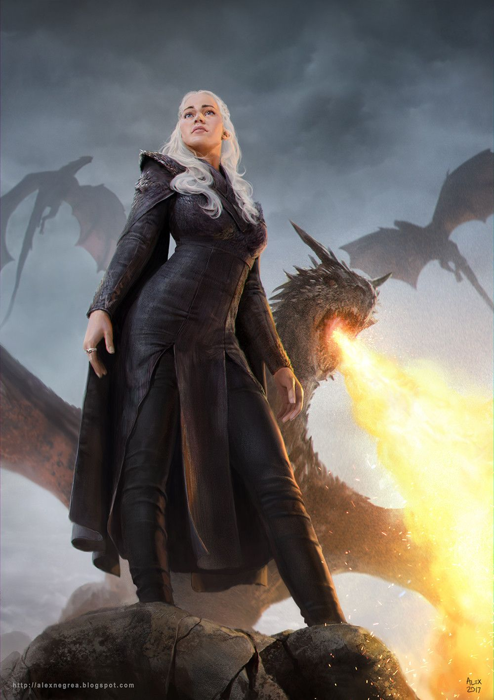 Dragons game of thrones colors - Game Of Thrones Fan Art Daenerys Targaryen Mother Of Dragons