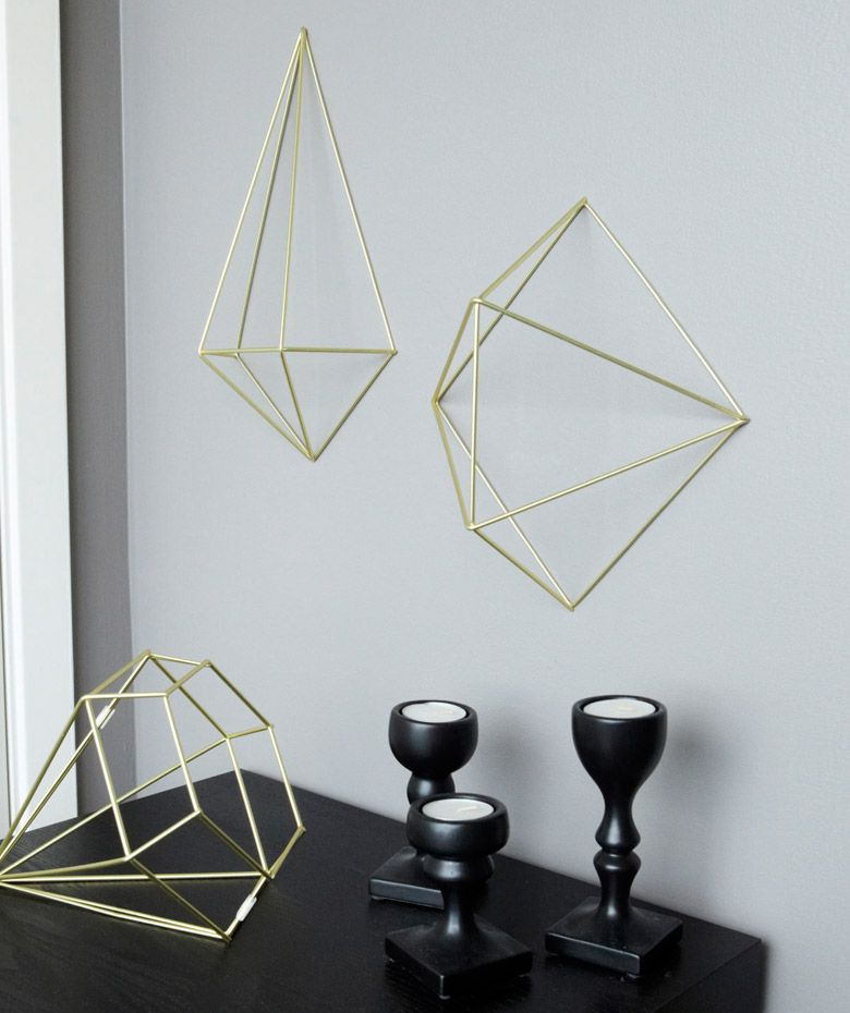 Prisma set figuras en metal para decoraci n de paredes y for Decoracion pared metal