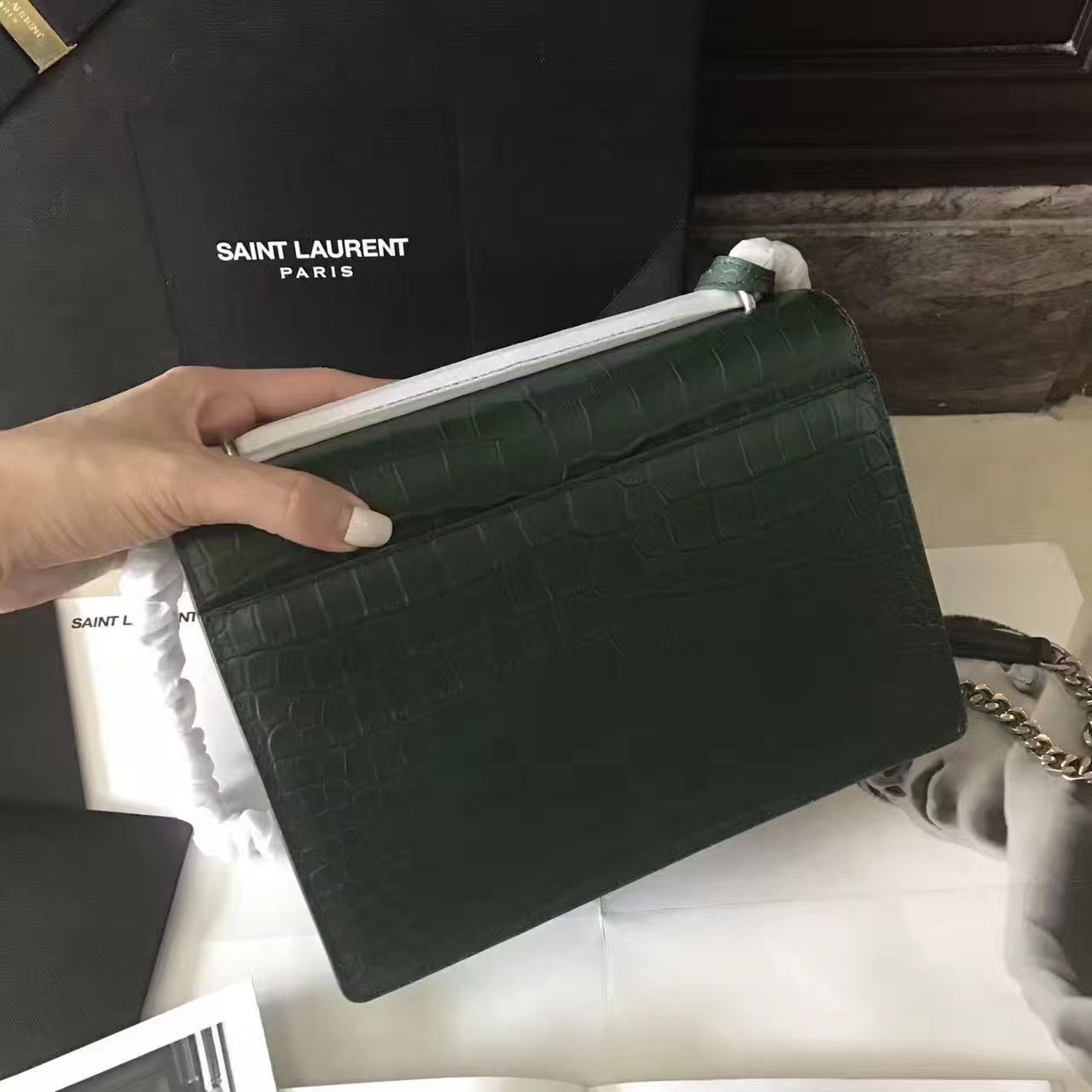0386334882d1 Saint Laurent Small Loulou Chain Bag in