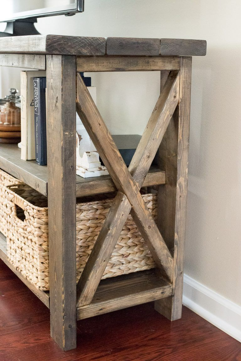 How To Make A Rustic Farmhouse Console Table Following A Building