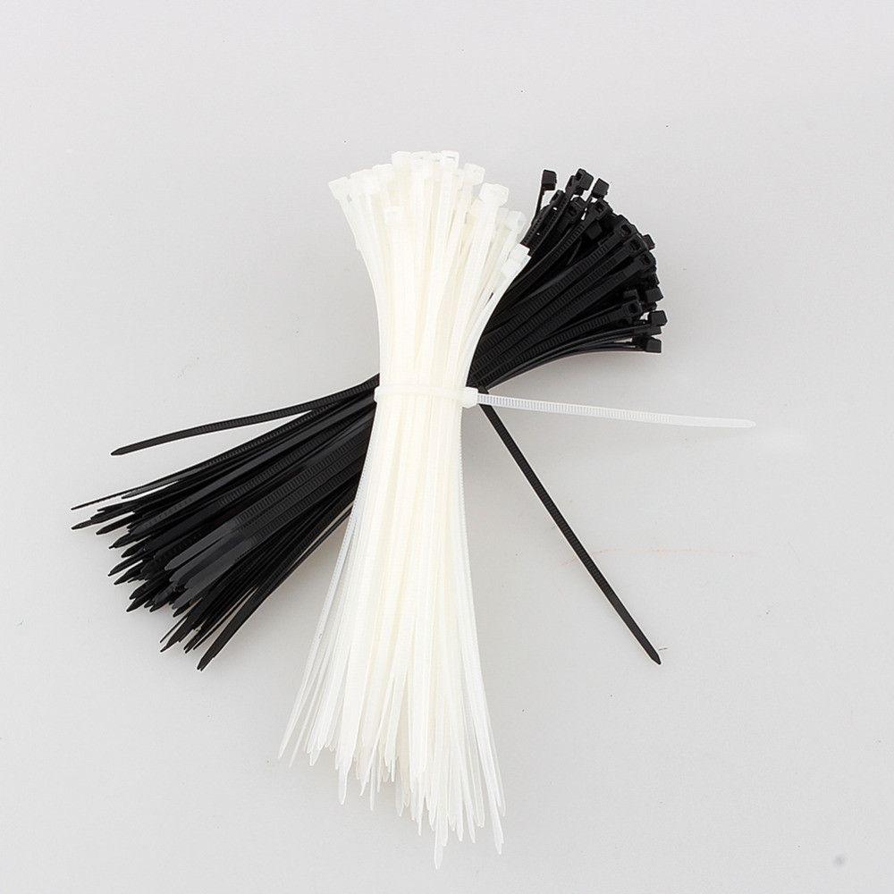 3X200MM Network Nylon Plastic Cable Ties Zip Fasten Wire Wrap Strap ...