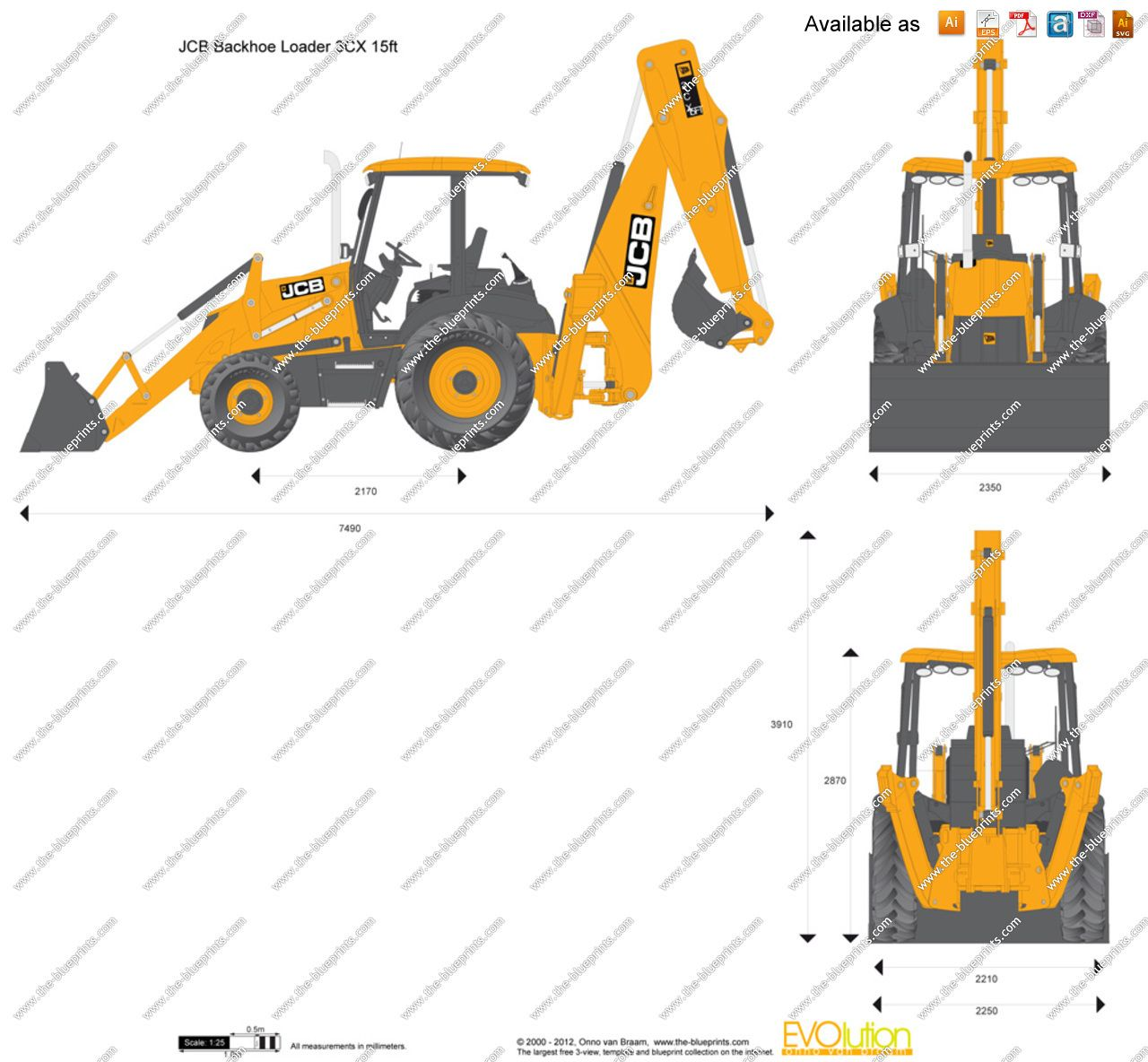 Jcb 3cx 15ft Backhoe Loader Backhoe Loader Backhoe