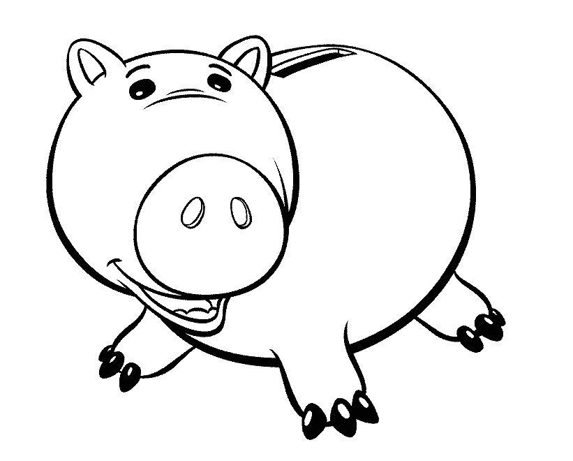 Toy Story Hamm Large Body Coloring Pages
