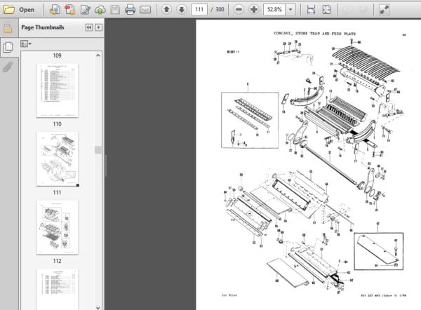 Massey Ferguson Mf 205 Combine Parts Manual Massey Ferguson Manual Pdf Download