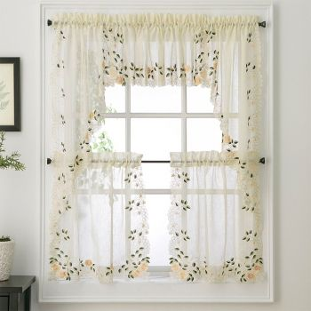 Rosemary Floral Kitchen Tier Curtain Shabby Chic Kitchen Tier Curtains Curtains