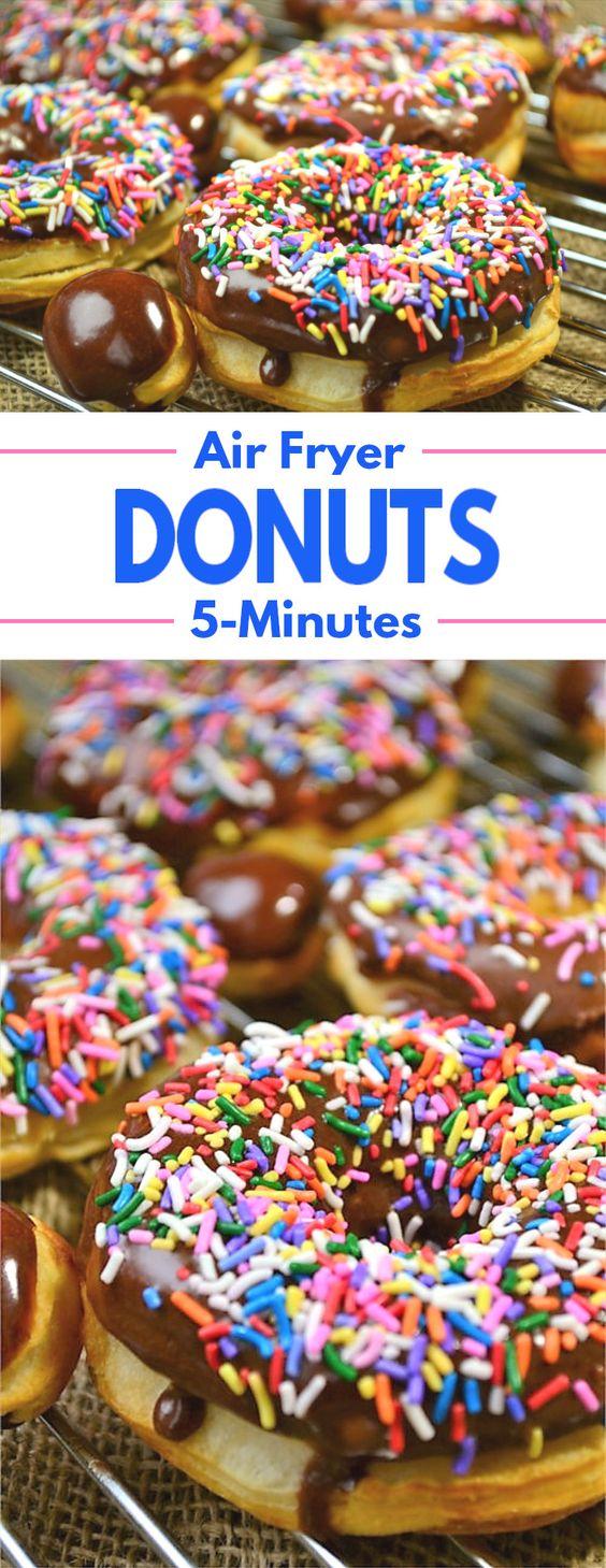 5Minute Air Fryer Donuts Air fryer doughnut recipe, Air