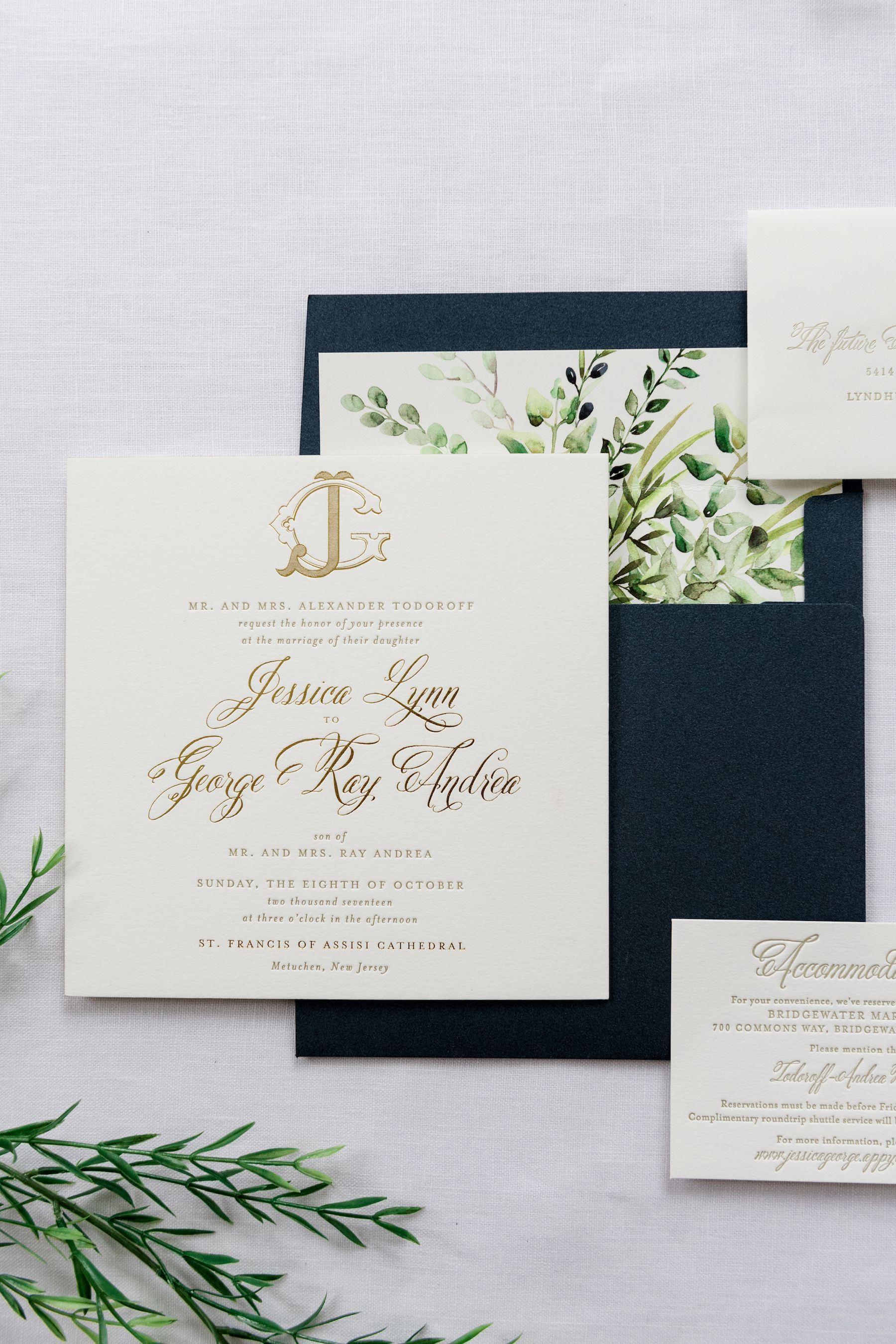 jessica  square wedding invitations foil wedding