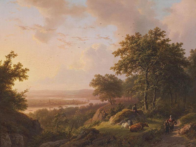 Fájl: Barend Cornelis Koekkoek - Landschap bij avond.jpg