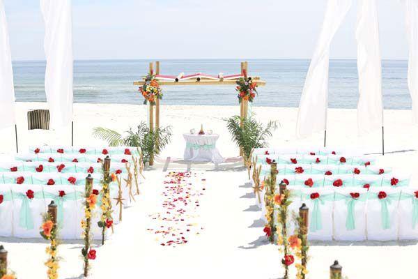 Gulf Coast Beach Wedding And Reception Packages For Orange Beach And Gulf Shores Alab Beach Wedding Packages Beach Wedding Locations Gulf Coast Wedding Venues