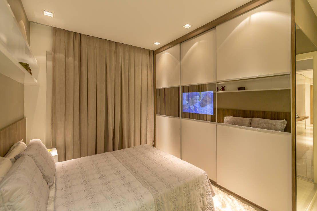Resultado De Imagem Para Decora O Quarto Casal Apartamento  ~ Quarto Casal Pequeno Armario E Quarto Branco E Vermelho