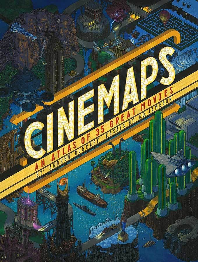 A book of beautiful hand painted maps of of 35 great movies boing cinemaps by andrew degraff available at book depository with free delivery worldwide gumiabroncs Images