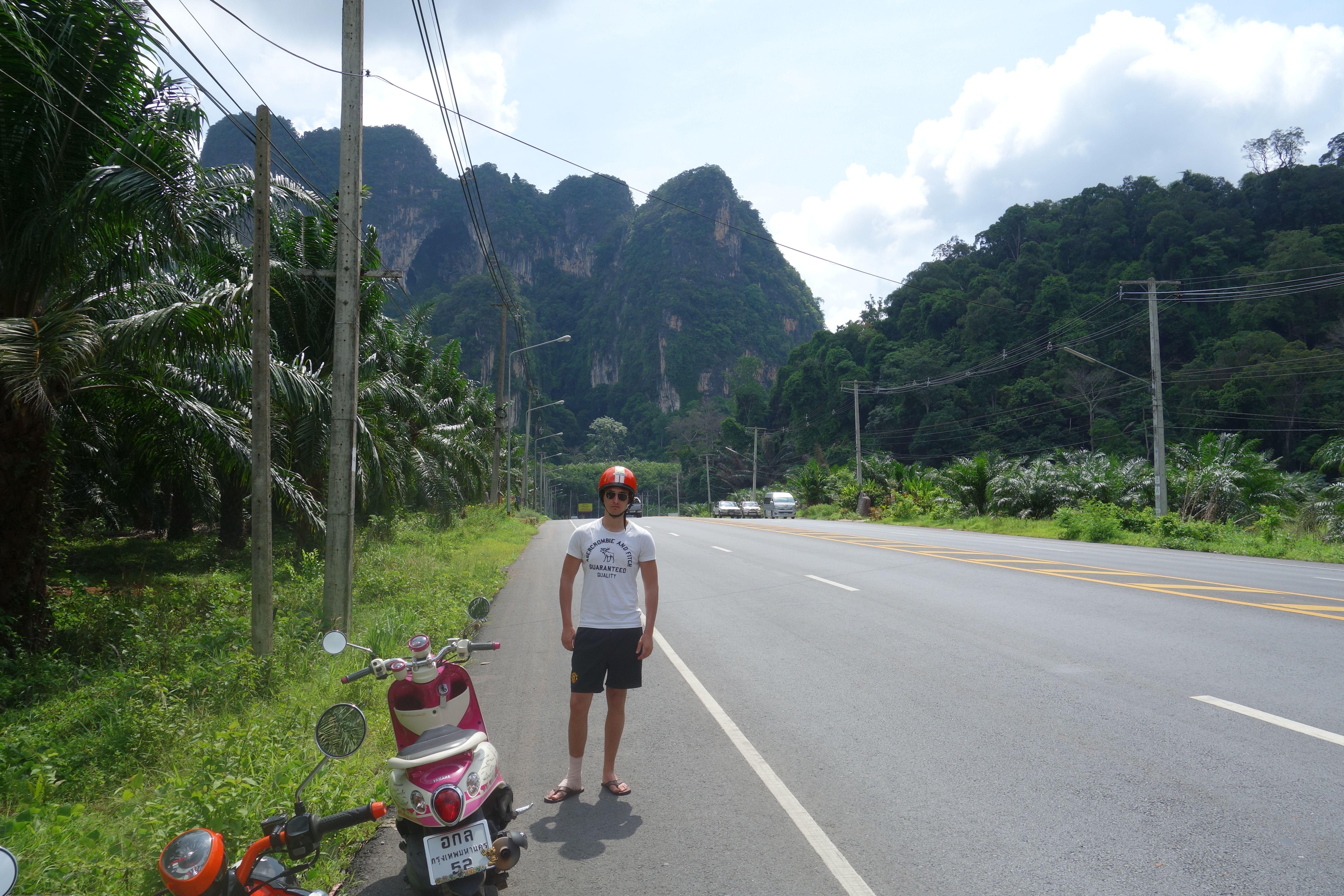 Riding a bike near krabi, great view. Thailand
