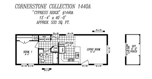 14x40 mobile home | Mobile home catalog of floor plans - New