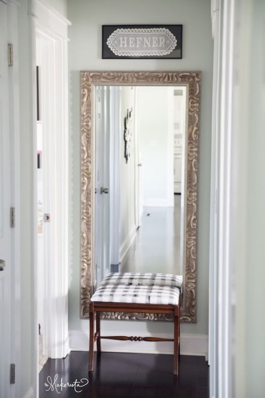 5 Ideas to Decorate the End of a Hallway   Pinterest   Long hallway     how to decorate the end of a long hallway  with a mirror or artwork photo via makerista