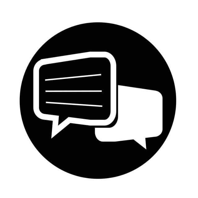 Talking Bubble Chat Icon Vector And Png Talk Bubble Icon Free Vector Illustration