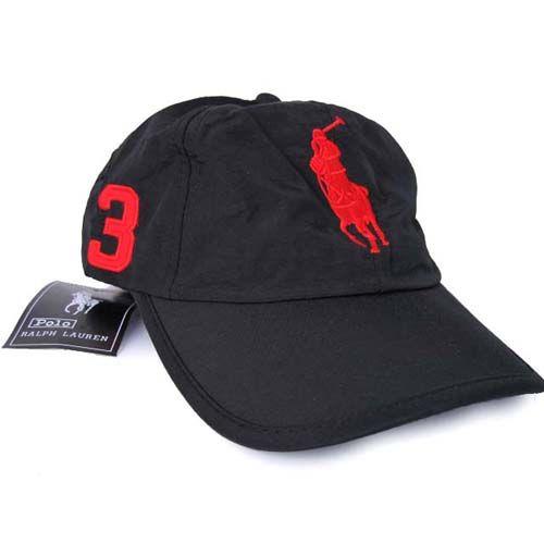 1036bbbdd7b Ralph Lauren Big Pony Chino Hat Black