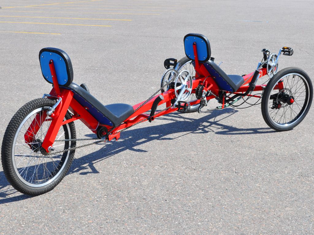 Viking Tandem Trike Diy Plan Atomiczombie Diy Plans Recumbent Bicycle Powered Bicycle Tandem Bike
