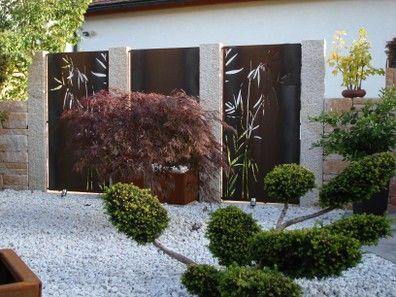 paras sichtschutz - stahl für den garten und das heim | terrasse, Terrassen ideen