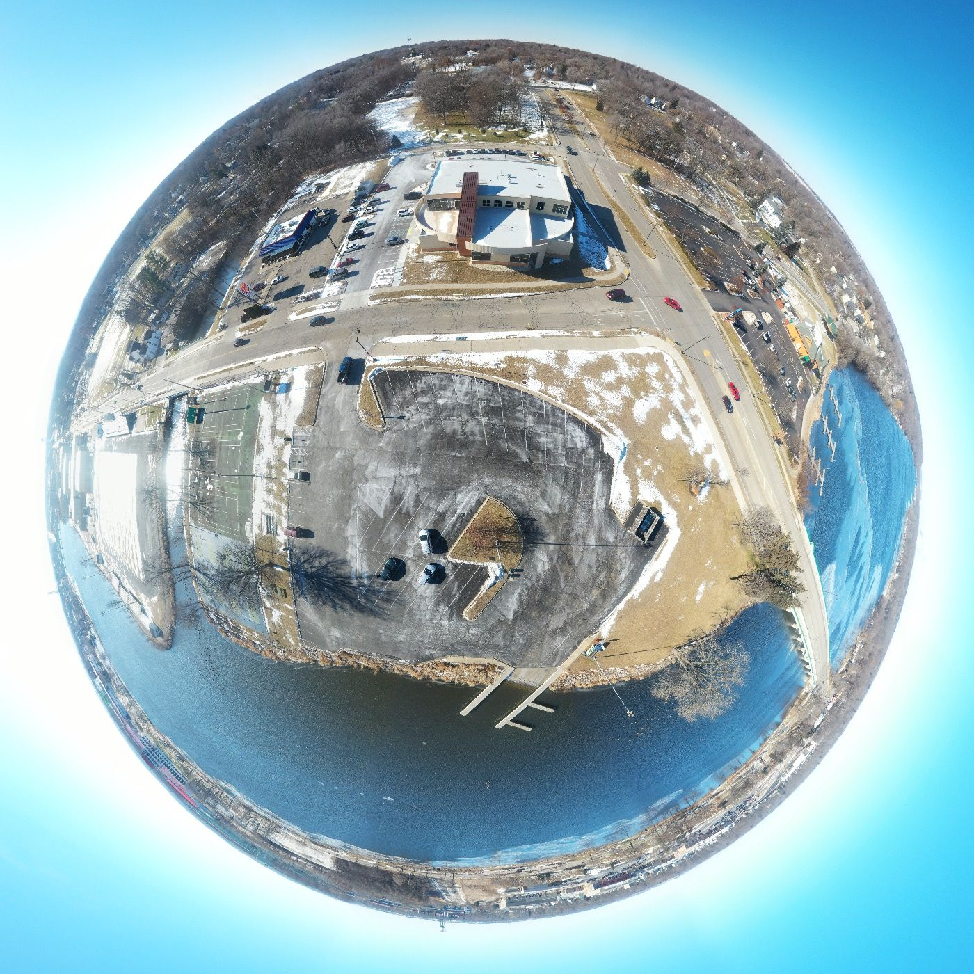 Beloit Christmas 2020 School District of Beloit Welcome Center in 2020   Drone