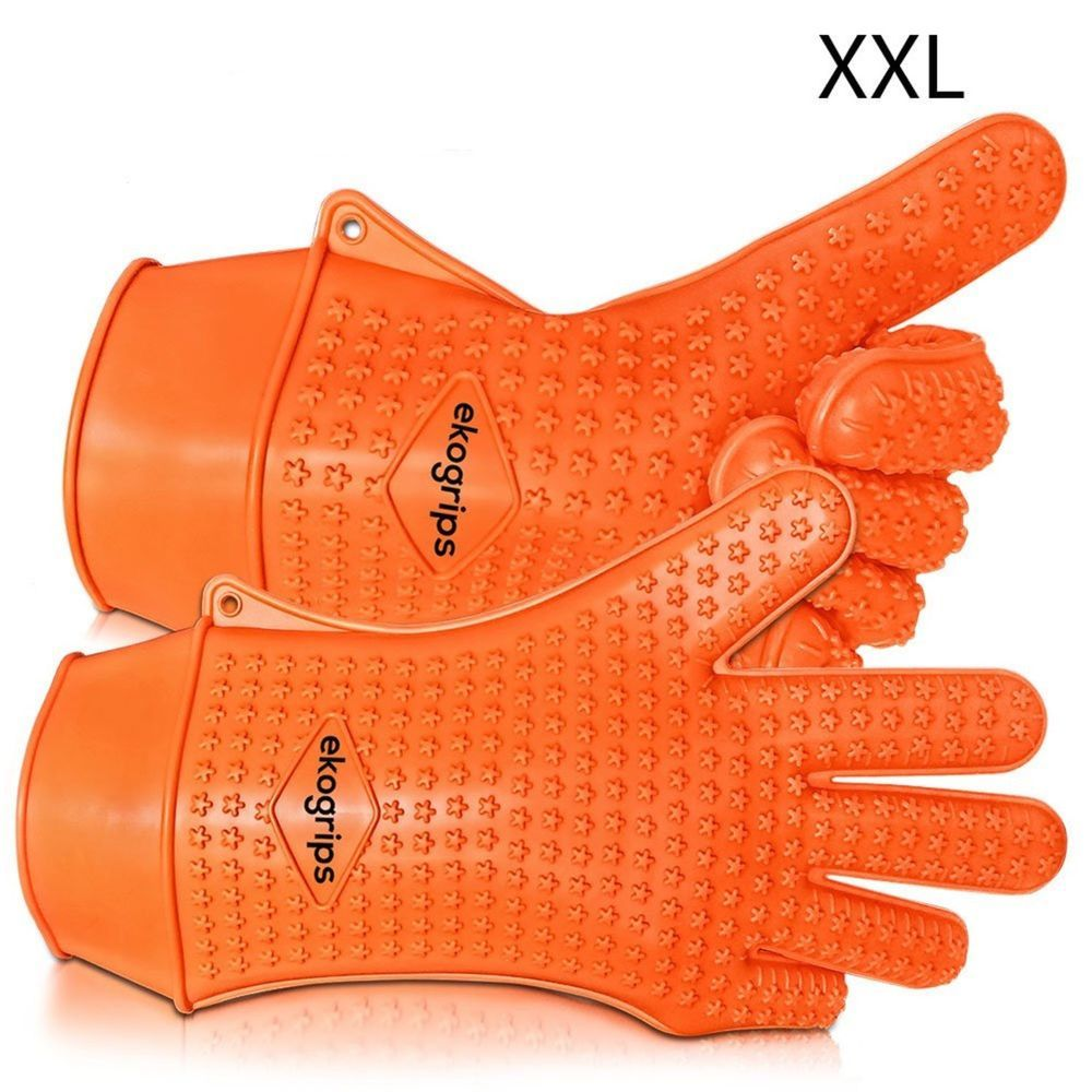 Highest Rated Heat Resistant Silicone Bbq Oven Mitts Gloves Xxl