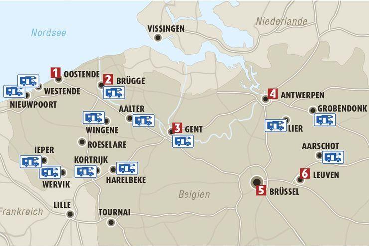 Wohnmobil Tour Belgien Romantik Pur In Flandern Wohnmobil