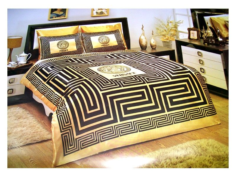Black And Gold Bed Sets Versace Goldbedding Luxury Bedroom