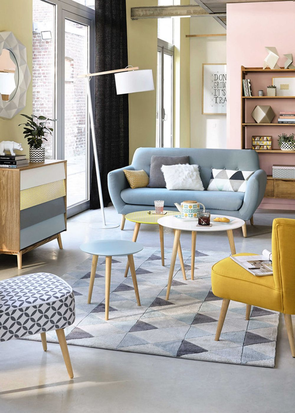 Wunderbar Pastel Living Room Inspiration With Scandinavian Style | Maisons Du Monde