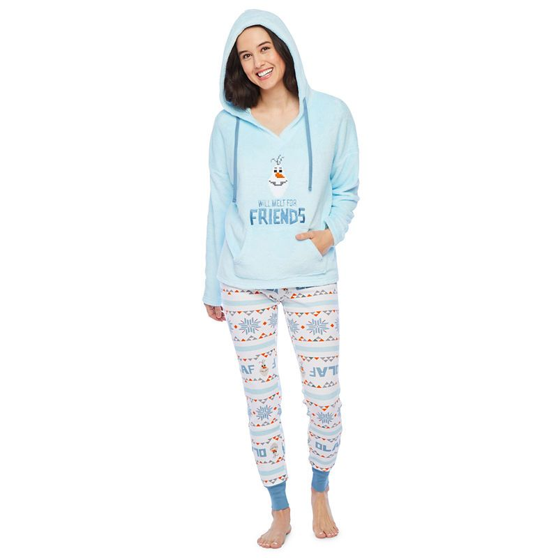 Disney S Frozen Womens Pant Pajama Set 2 Pc Long Sleeve Pants