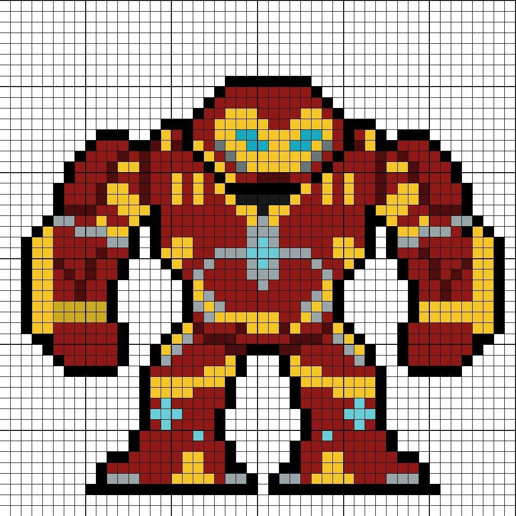 Hulkbuster Perler Bead Pattern | Pixel Art And Cross Stitch ...