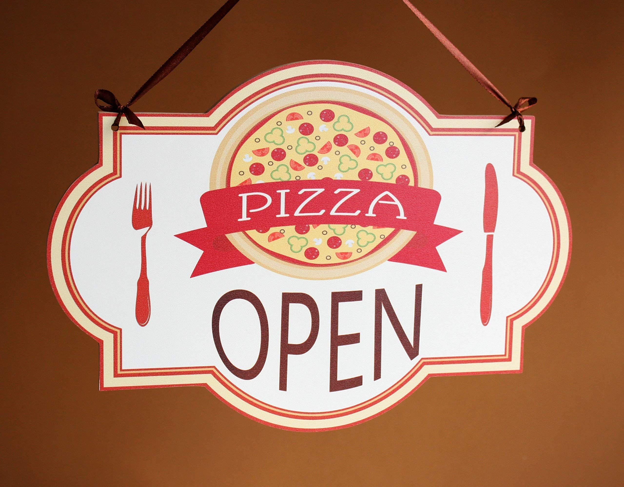 Photo of Open/Closed – o aperto/chiuso cartello in legno a doppia faccia per appendere la porta (pizzeria)