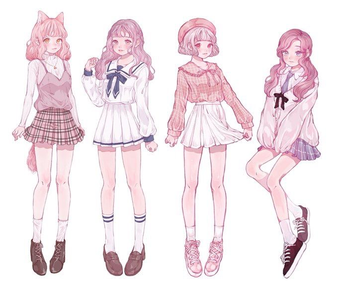 So Cute I Want These Character Design Girl Drawing Clothes Cute Art