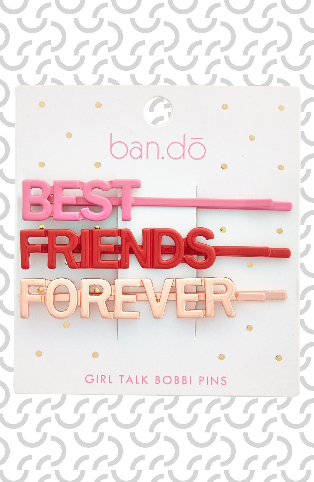 This 'Girl Talk' bobby pin set is perfect for the bestie!