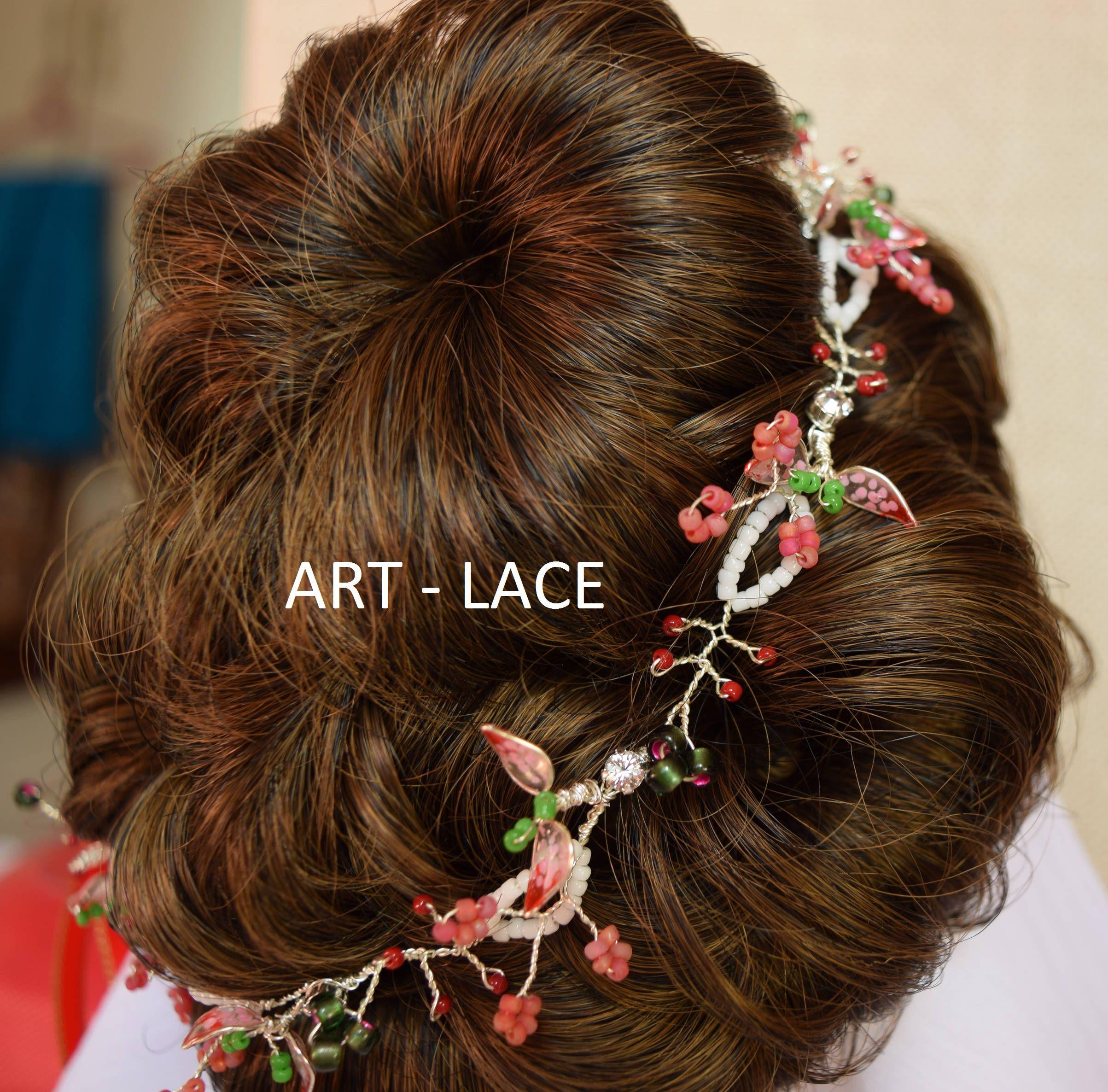 chinese wedding hair wreath red white bridal hair wraps