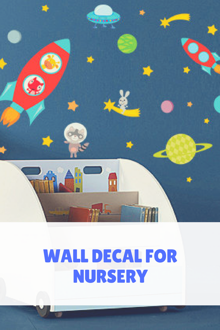 Space Wall Decals Astronaut Wall Decal Space Decal Rocket Wall