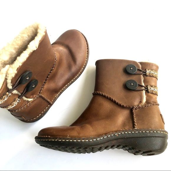3ec5c9e9145b UGG LILLIE SURF INSPIRED LEATHER BUTTON ANKLE BOOT Super sweet. From Ugg  Surf Inspired collection