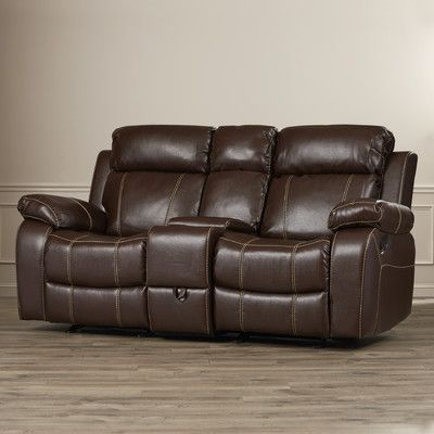 Darby Home Co Chestnut Double Gliding Loveseat