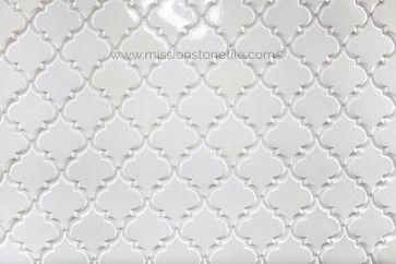 Beveled Arabesque Tile- Ivory-Mission Stone Tile - transitional - Tile - Nashville - Mission Stone Tile