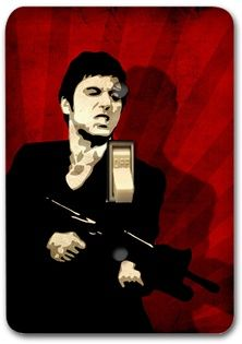 Scarface Red Light Metal Switch Plate Cover Home Wall Decor Decorative Sp684