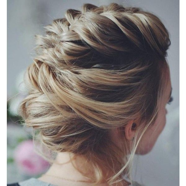 40 Hottest Prom Hairstyles for Short Hair ❤ liked on Polyvore featuring beauty products, haircare, hair styling tools, hair and hairstyle